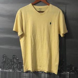 POLO RALPH LAUREN Yellow Short Sleeve V-Neck Tee